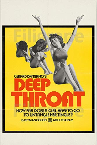 PostersAndCo TM Deep Throat Film Rhdf-Poster / Kunstdruck 50 x 70 cm * (auf Papier 60 x 80 cm) d1 Poster Vintage