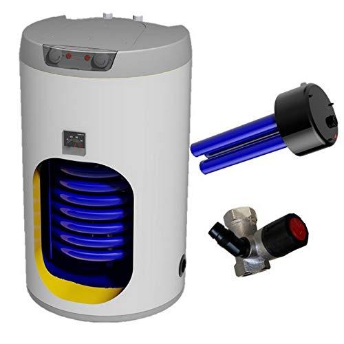 Warmwasserspeicher Standspeicher Elektrospeicher Kombispeicher mit 1 oder 2 Wärmetauscher mit 2,2 3-6 kW Keramikheizstab incl. Sicherheitsventil 100 125 160 200 250 300 Liter