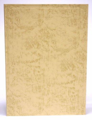 紙表紙 クリーム 証書ファイル 賞状ホルダー (1枚収納用 B5 257mm×182mm)