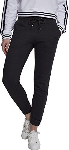 Urban Classics Damen Sweat Sporthose, Schwarz (Black 00007), W27 (Herstellergröße: S)