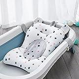 IPENNY - Alfombra de baño para bebé, red de baño, para recién nacido, con cinturón de seguridad, cojín de baño, diseño de estrella, antideslizante, plegable, cojín de aire