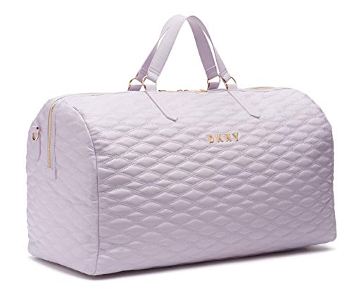 DKNY Quilted Softside Luggage, Lilac, 22""