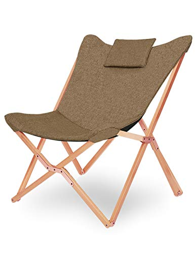 Silla Sillas Playa de Jardin Plegables Camping Playa Butterfly Sillón Reclinable Nordica...