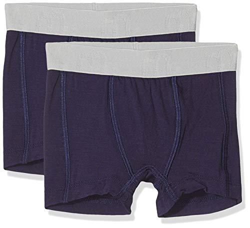 MINYMO Baby-Jungen 2er Pack Unterhose Boxershorts, Blau (Dark Navy 778), (Herstellergröße: 86)
