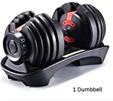 DEM Adjustable Dumbbell 24KG/50LB Weight for Body Building, Home Exercise, Gym Personal Workout
