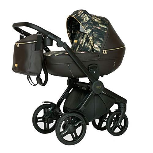 Krausman Kinderwagen 3 in 1 Topaz Lux Dark Brown LIMITED Kombikinderwagen Babyschale Babywanne Sportwagen Design Made In Germany
