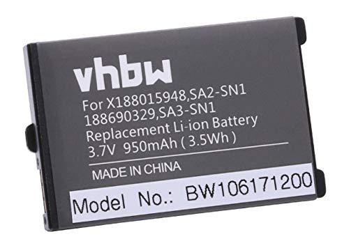 vhbw Akku Ersatz für 251289660 für Sagem My-X1, MY-X2-2, My-X3, My-X5, My-C5, MY-Q88 Handy, Handy, Smartphone (Li-Ion, 950mAh, 3.6V)