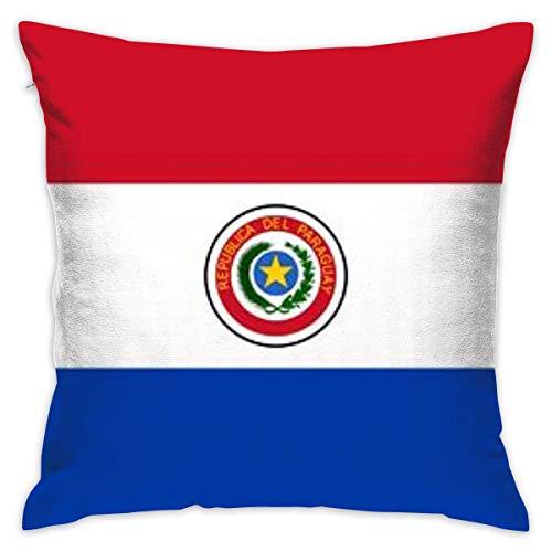 huatongxin Paraguay Bandera Fundas de Almohada Hamaca Decoración Funda de cojín Suministros para Eventos y Fiestas 18x18 Pulgadas
