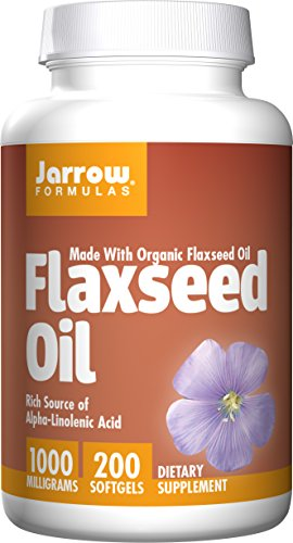 Jarrow Formulas Flaxseed Oil, Supports Cardiovascular Health, 1000 mg, 200 Softgels