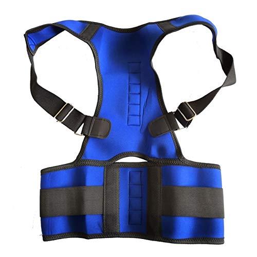 JBIVWW KJACR Mujeres Corrector Corrector Back-Support Vendaje Hombro Corsé Atrás Soporte Postura Corrección Cinturón (Color : Blue, Size : S)
