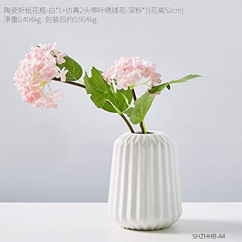 don997gfoh08yewi Creatieve geometrische origami keramische vaas decoratie huis woonkamer slaapkamer TV kast gedroogde bloem arrangementCombinatie 4