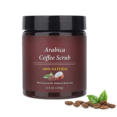 Körperpeeling-Creme, Naturals-Kaffee-Körperpeeling und Gesichtspeeling, Peeling für Gesicht, Körper und Beine, Hautpflege-Anti-Aging-Tiefenreinigung für Frauen und Männer
