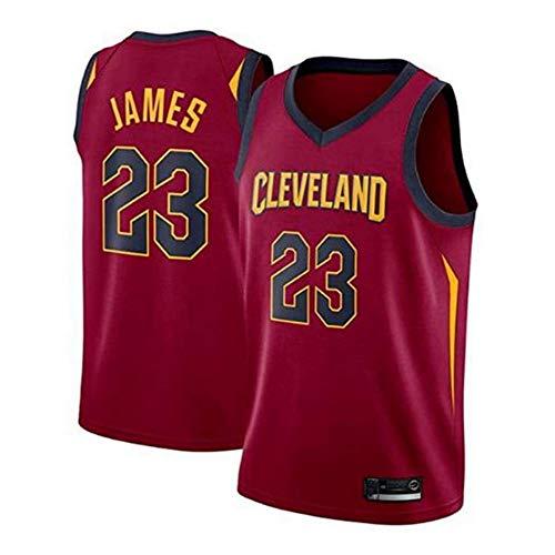 Jerseys De Baloncesto para Hombre - Cleveland Cavaliers # 23 Lebron James Uniforme De Fanático del Baloncesto Camiseta De Chaleco De Tela Transpirable Fresca Jersey,Rojo,L