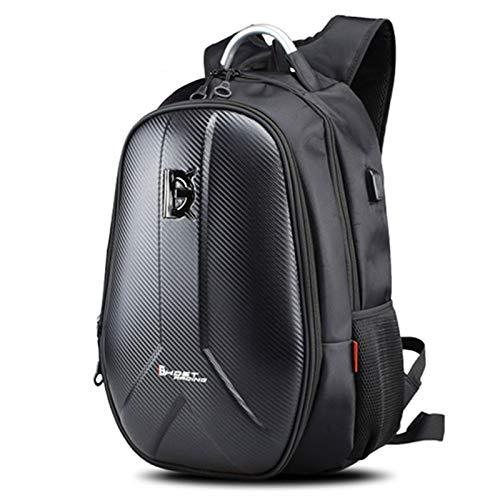 Bolsa Impermeable para Motocicleta Mochila para Motocicleta Bolsa sobre depósito Fibra de Carbono Moto Bolsas para Casco de Moto Equipaje de Viaje Mochila para portátil de 15,6 Pulgadas