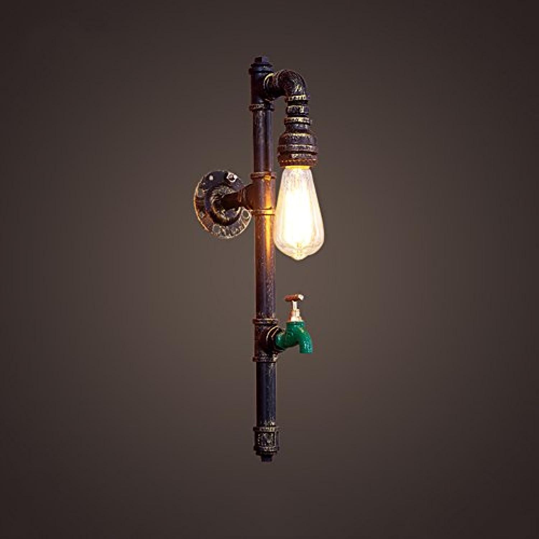 & Wandleuchten Retro einzelne Kopf-Wasser-Rohr-Wand-Lampen-Gaststtte-Kaffee-Eisen-kreative Wand-Lichter Lichter (Farbe   A)