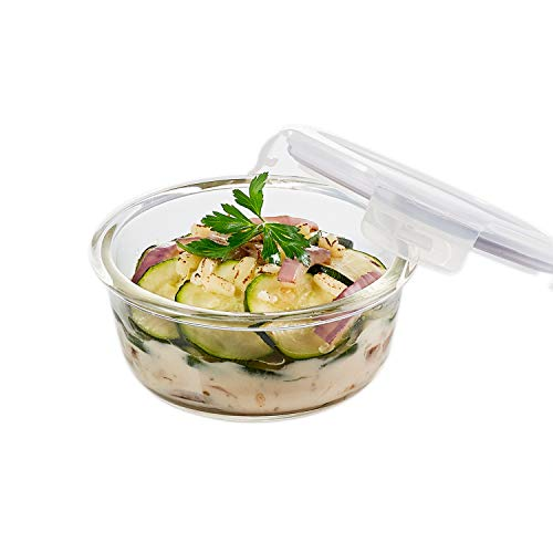 LOCK amp LOCK Purely Better Glass Food Storage Container with Lid Round13 oz Clear
