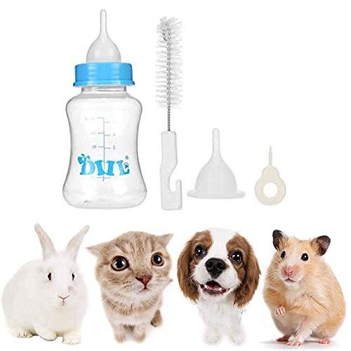 Wuudi Aufzuchtflasche 150ml Babyflasche für Welpen Kätzchen Milchflasche Set mit Sauger und Reinigungsbürste