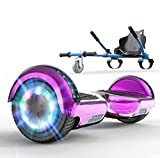 SOUTHERN WOLF Hoverboard autoequilibrado, Scooter eléctrico con Luces LED, Scooter autoequilibrado de 2x350 W, Altavoz Bluetooth Integrado, Incluye Kart, niños