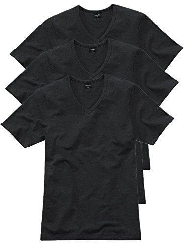 Bugatti Herren T-Shirt V-Hals 3er Pack Farbe schwarz, Größe 5