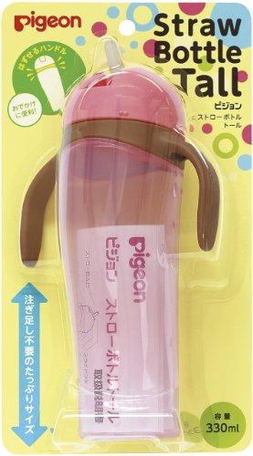 ピジョンPigeonストローボトルトールピンク330ml9ヵ月頃から注ぎ足し不要のたっぷりサイズ