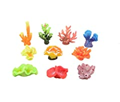 Made of PU,PVC and Resin,Environmental protection material Lifelike coral ornament. Once it's in the tank you can't even tell it's made of plastic. Vibrant colors. Add life to your aquarium. Weighted base, Non-toxic material. Safe for fish Dimension:...
