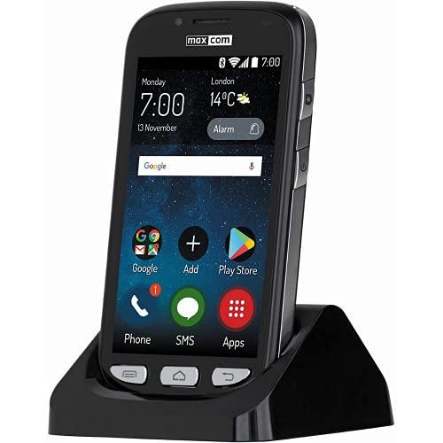 Maxcom MS 459 Harmony - Smartphone 4G libre para personas mayores (tecla de asistencia SOS con geolocalización), innovador y fácil de usar, con grandes iconos, sonido fuerte y claro, color negro