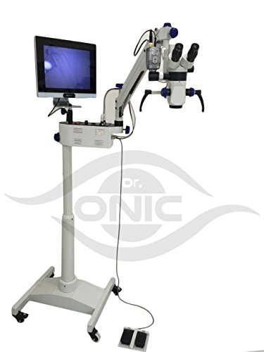 Neurosurgery Surgical Microscope 3 Step,Floor Type,90° Binoculars,LED Screen, HD Camera,Beam Splitter Dr.Onic