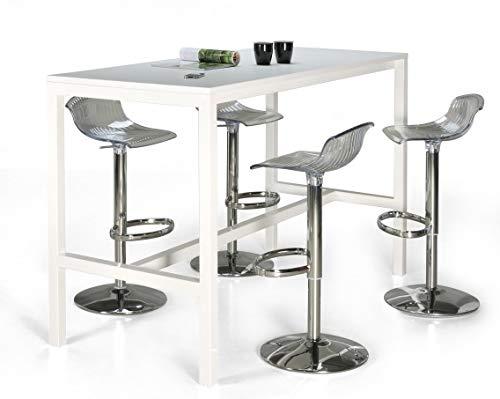 24Designs Hoge Bartafel Werktafel En Statafel Block - L200 X B80 X H110 Cm - Wit