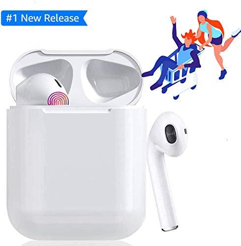 Auriculares Bluetooth, Auriculares inalámbricos 3D estéreo HD Bluetooth Deporte con Micrófono Reducción de Ruido CVC 8.0 Cascos para Apple AirPods iPhone/Android