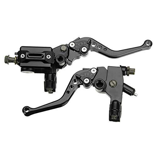 outingStarcase 7/8 Pulgadas Universal CNC Freno de la Motocicleta del Embrague Cilindro Maestro Palanca Conjunto depósito (Color: Negro)