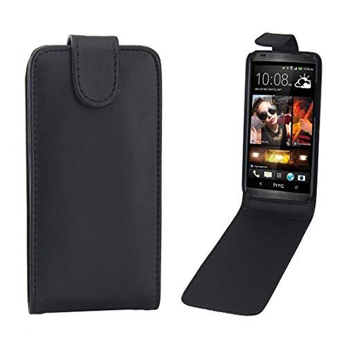 Telefoonhoes voor HTC Desire 601 / Zara verticale flip magneetsluiting lederen tas (zwart), zwart