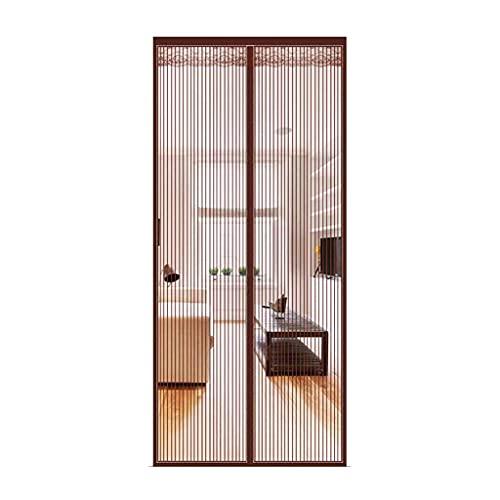 LZG Moskitonetz-Magnettüren, Moskitonetze mit magnetischen Schließen Moskitonetztüren und Windows-Vorhänge Fine Mesh-Gürtelband, Korridor-Patio-Türen-grau, braun zu inst