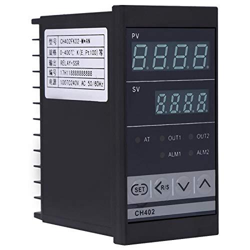 Controlador de temperatura, controlador de termostato industrial PID de entrada TC/RTD de alta precisión, reparación para reemplazo