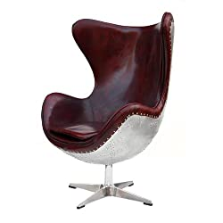 dreh ohrensessel aus echt leder modern retro braun. Black Bedroom Furniture Sets. Home Design Ideas