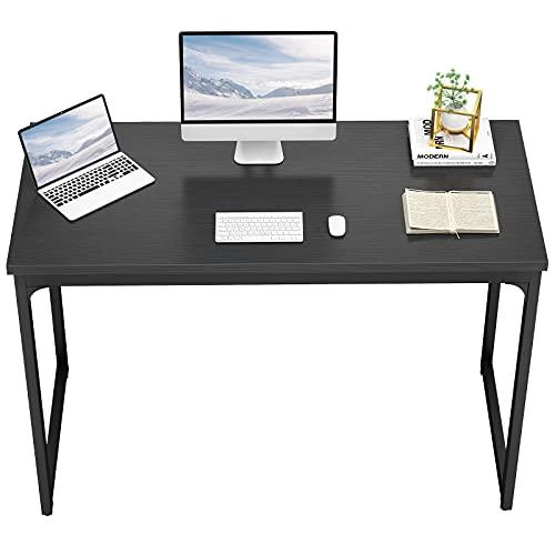 "desks Foxemart Computer Desk 47"" Modern Sturdy Office Desk PC Laptop Notebook Study Writing Table for Home Office Workstation, Black"