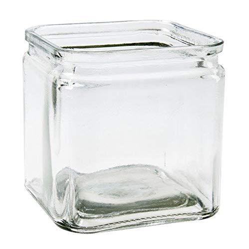 6 x Glaswürfel Cubus in verschiedenen Größen Teelichtgläser - Windlichter - Teelichthalter - Glaswindlicht - Vase - Größe 7 x 7 cm