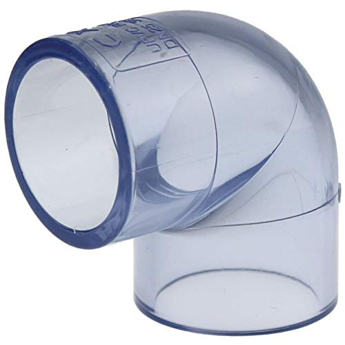 folien-zentrum PVC-U Rohr Klebekappe Winkel Klebemuffe Kugelhahn T-stück Druckrohr 1 Meter Ø 25mm - 50mm Garten Teich Koi Wasser (90 Grad Winkel, 40mm)