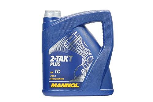 MANNOL MN7204-4 Motorenöl Plus 2-Takt Plus API TC, 4 Liter