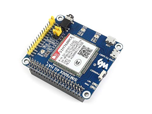 Waveshare 4G/3G/2G/GSM/GPRS/GNSS HAT for Raspberry Pi/Jetson Nano Based SIM7600G-H Support LTE CAT4 for Dial-up, Phone Call, SMS, MMS, Mail, TCP, UDP, DTMF, HTTP, FTP Global Position