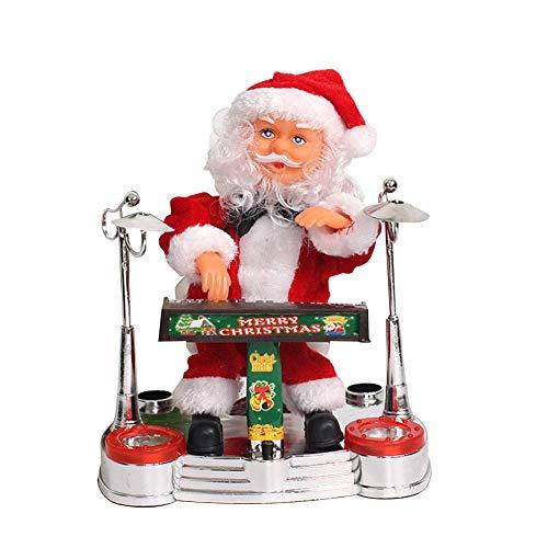 Yestter Elektrische Musik Weihnachtsmann-Puppe, Weihnachtsmann, Der Elektronisches Klavier Spielt Verzierung Für Weihnachtsdekoration Für Weihnachtsfeiern Geschenke Hotels Einkaufszentren Kindergärten
