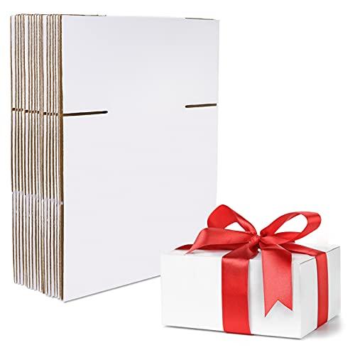 HANTAJANSS 9X6X4 INCHES 배송 박스 세트 25 선물 포장 우편 포장용 화이트 골판지 카드보드 박스