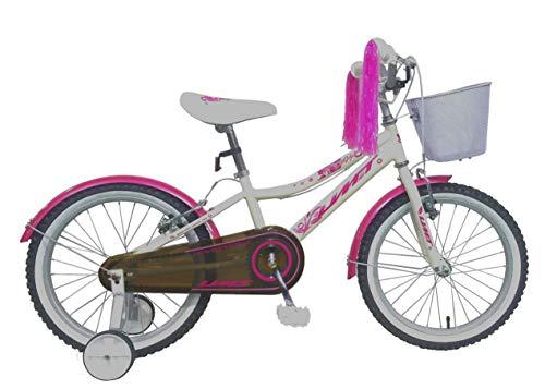 Umit 18' Diana Bicicleta Infantil Pulgadas, Unisex niños, Blanca/Rosa