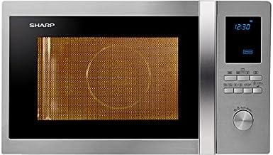 Sharp R-982STWE Encimera - Microondas (Encimera, Microondas combinado, 42 L, 1000 W, Botones, Giratorio, Acero inoxidable)