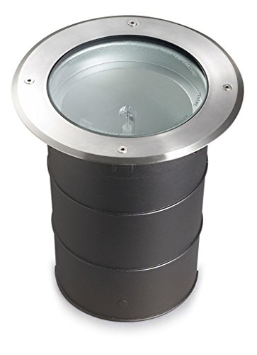 Spot Gea Hid encastrable, G12 35W, inox, aluminium et verre