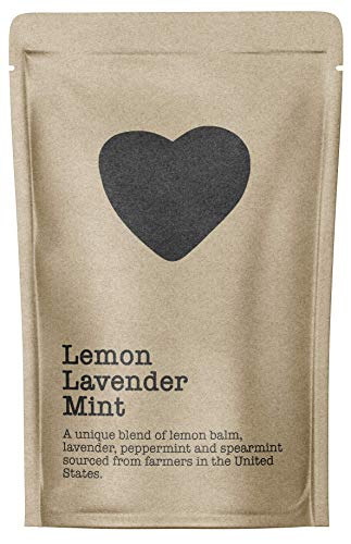 Lemon Lavender Mint, 15-20 Servings, Eco-Conscious Zip Pouch, Caffeine Free, Pure Loose Leaf Tea Grown in America
