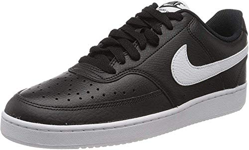 Nike Herren Court Vision Lo Sneaker, Black/White-Photon Dust, 44 EU