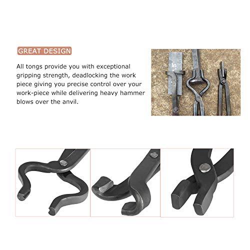 Knife Making Tongs Set 3PCs Assembled Knife Making Blacksmith Bladesmith Tools Anvil Forge