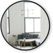 Espelho Redondo Preto Umbra D46cm