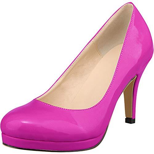 Wealsex Zapatos Vestir Mujer Charol Zapatos Tacon