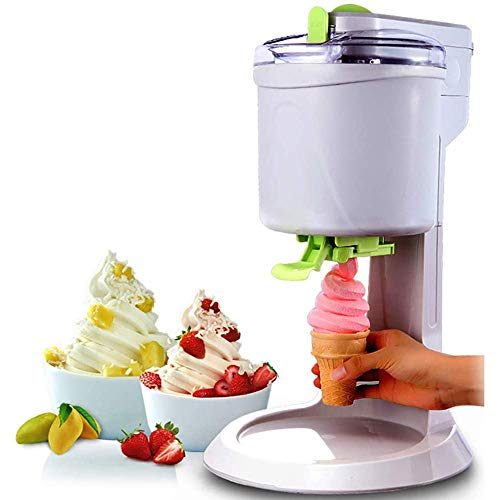 Find Discount Home Small Ice Cream Maker, 1L Large Capacity DIY Ice Cream Machine, Easy Clean Smooth...